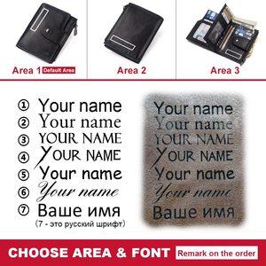 Image 5 - Kavis rfidスマート財布本革アラームgpsマップbluetooth黒人男性財布高品質デザイン財布送料彫刻