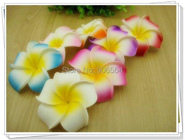 10Cm Foam Hawaiian Plumeria Flower Frangipani Floral Clips Nice Bridal Hair Accessories Wedding Hairpins Multicolors100 Pcs/Lot