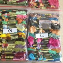 8TH CXC THREADS Great choice Embroidery Total 50 Skeins +10 Pieces of Needle