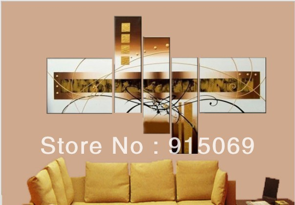 Hot Sale Gold White Modern Oil Painting On Canvas Abstract Oil Paintings Wall Art Picture Christmas Home Living room Decor Gifts