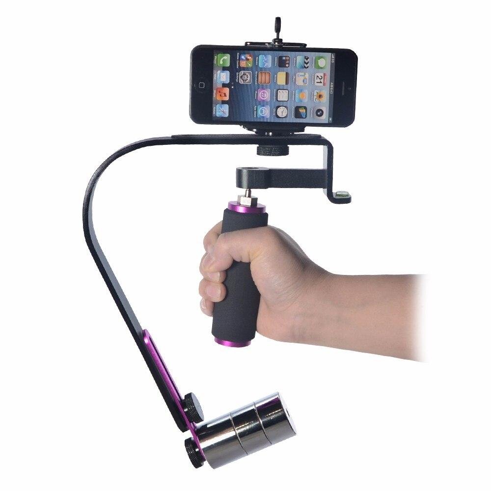 Mcoplus וידאו כף יד Steadycam מייצב את המערכת לטלפון סלולארי, טלפון נייד Go pro מצלמת Gopro