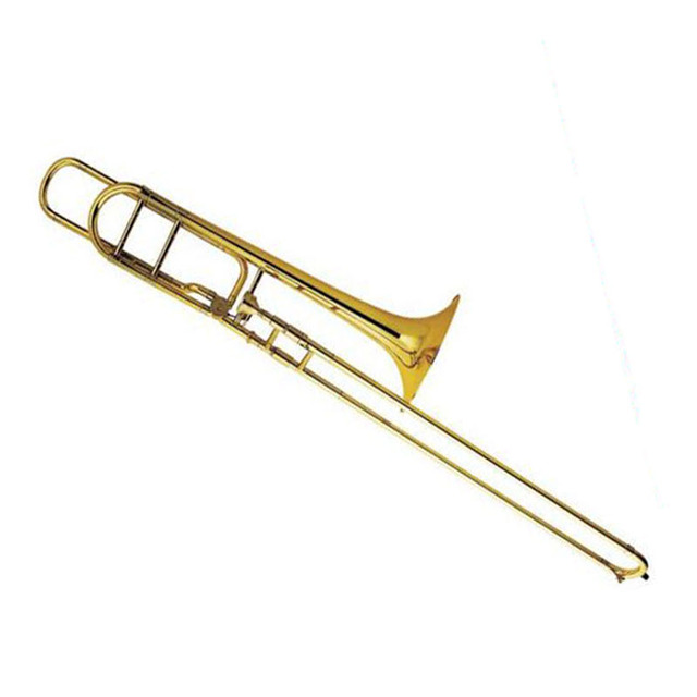 Cheap Bach Gold Lacquer Brass Musical Instrument Bb Trombone tuba 42BO senior sandhi Tenor Trombone Imports 95 Alloy Copper