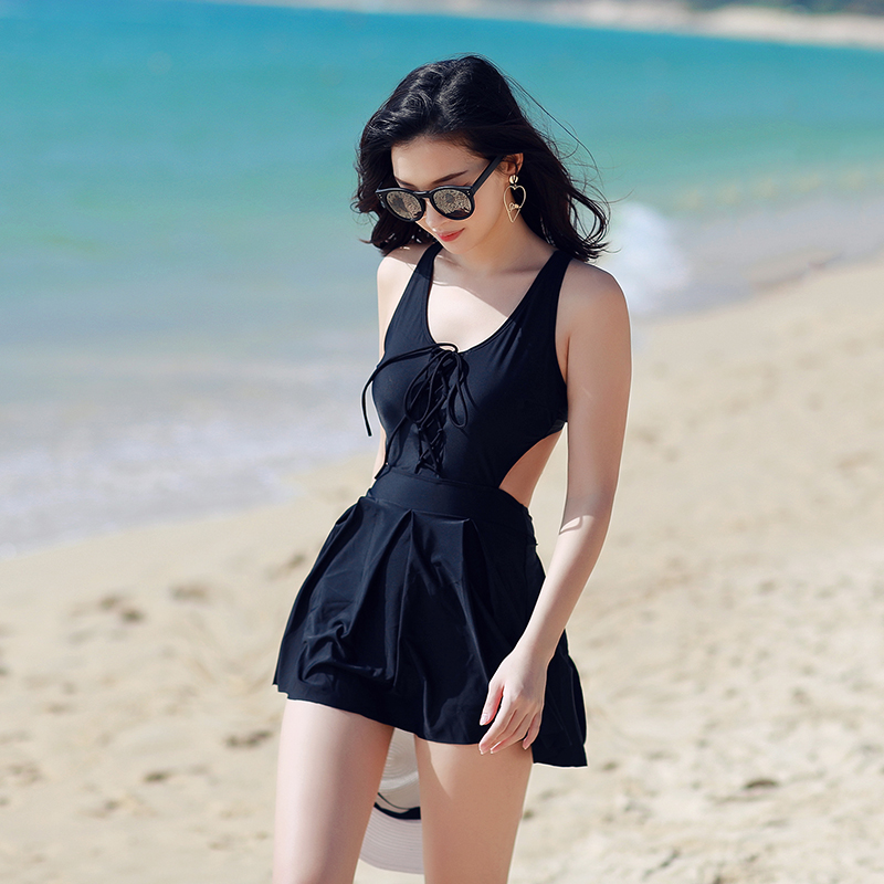 NIUMO NEW Woman Swim One-piece Swimsuit Spa Swimsuit Sexy Beach Swimsuits Gather Together Back Hollow