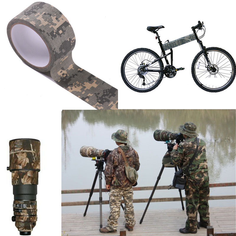 High Quality Bionic Camouflage Adhesive Tape Army Camouflage Outdoor Tape Waterproof Wrap for Camera Torch Telescope Protector Клейкая лента