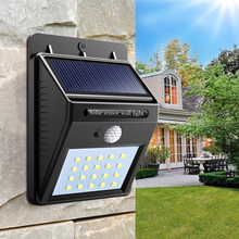 Solar Power Night Light Security 20 LED Solar Lamp PIR Motion Sensor Wall Lamp CDS Night Sensor Waterproof Path Garden Lighting