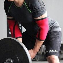 ジムフィットネス圧縮エルボースリーブネオプレン重量挙げ肘パッドプロテクターパワーリフティングdumbellsアームブレーススポーツ安全