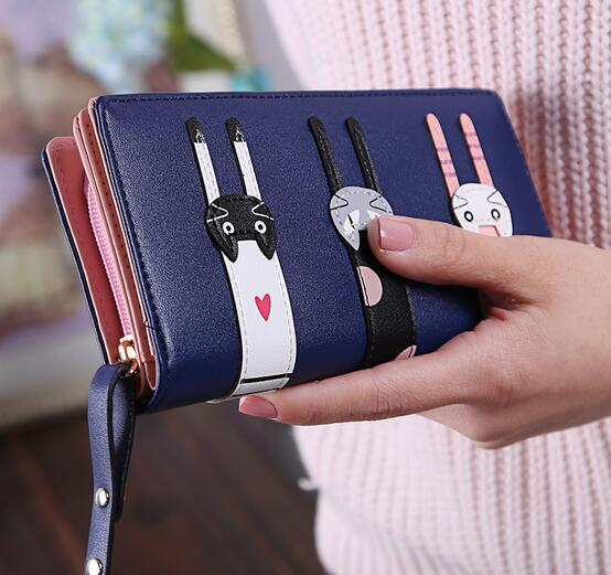 móvel carteira feminina longo zip Altura do Item : 9.5cm