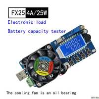 25WBattery capacity tester Constant current electronic load USB power detector adjustable resistor