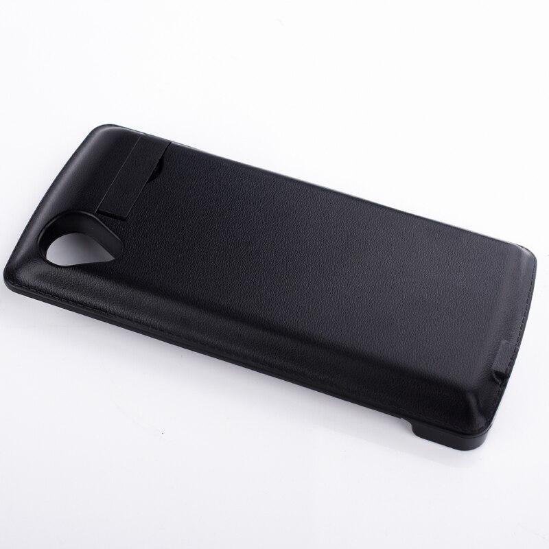 imágenes para 3800 mah recargable de reserva del cargador de batería para lg google nexus 5 d821 d820 external power bank paquete cubierta del teléfono negro