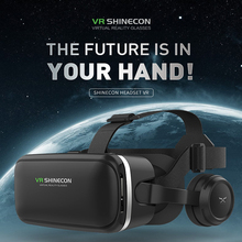 Controller Virtual Reality 3D Glasses VR Shinecon Helmet Video Stereo Headset For Phone Play Games Watching Movie Travel At Home vr display station holder storage stand for oculus rift headset controller vr virtual reality system
