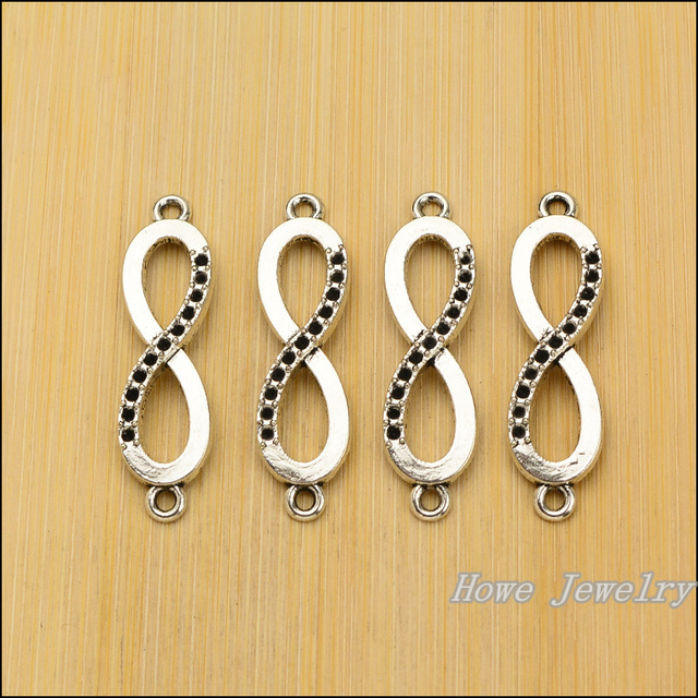 Wholesale 70pcs Retro Infinity Symbol Love Connector Tibetan Silver