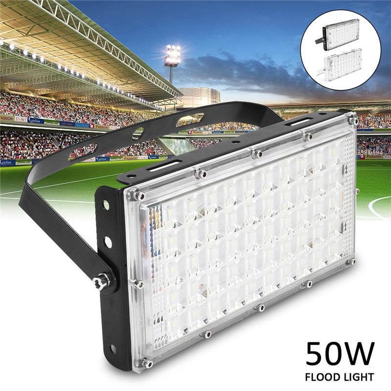 Versprechende LED Flutlicht Im Freien Flutlicht LED 50 watt Wasserdichte IP65 AC185-265V Such Garten Lichter Outdoor 220 v