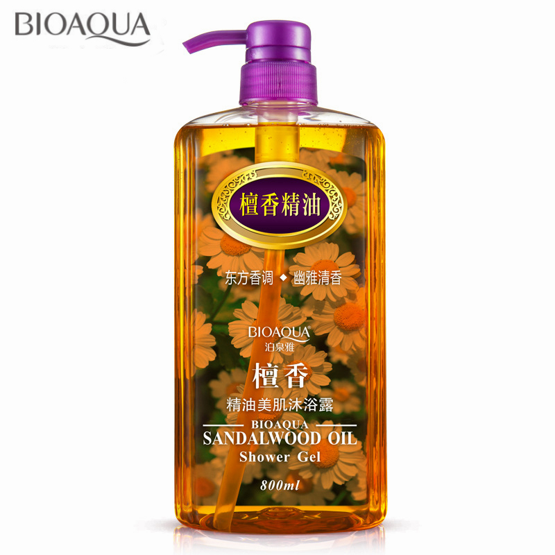 Sandalwood Essential Oil Shower Gel Body Skin Whitening Exfoliating Moisturizing Nourishing Beauty Body Lasting Fragrant Gels