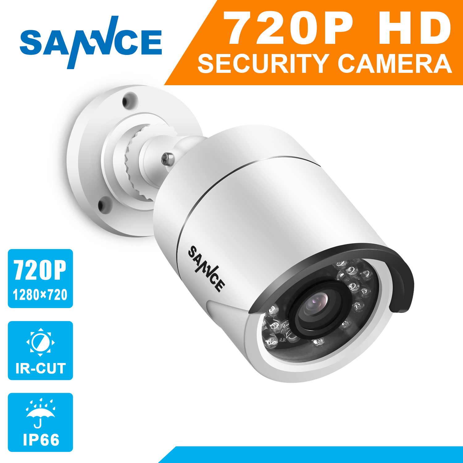 SANNCE AHD Bullet CCTV Camera Camera For Surveillance