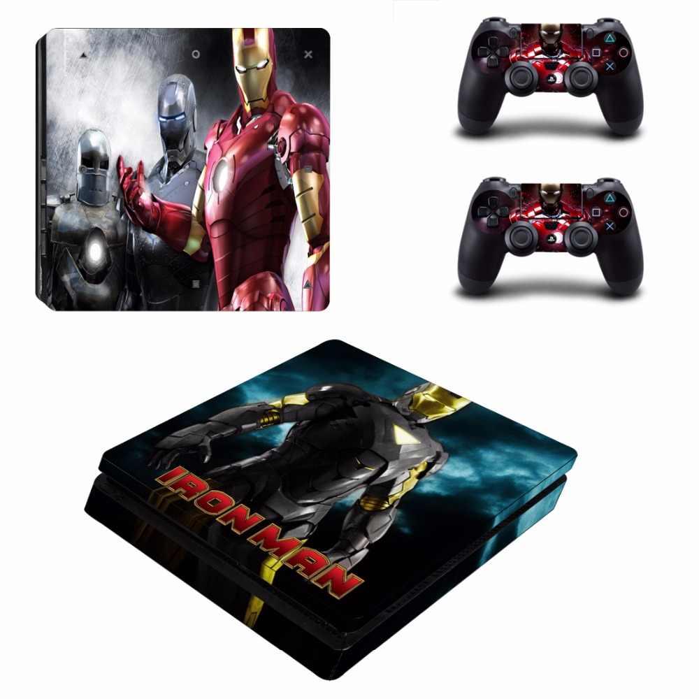 Avengers Iron Man Spiderman PS4 mince peau autocollant autocollant vinyle pour Playstation 4 Console et contrôleur PS4 mince peau autocollant