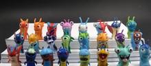 2015 recién llegado de 4 cm 24 unids/set lindo de dibujos animados Slugterra acción PVC Figures Set envío gratis juguetes para niños juguetes lot