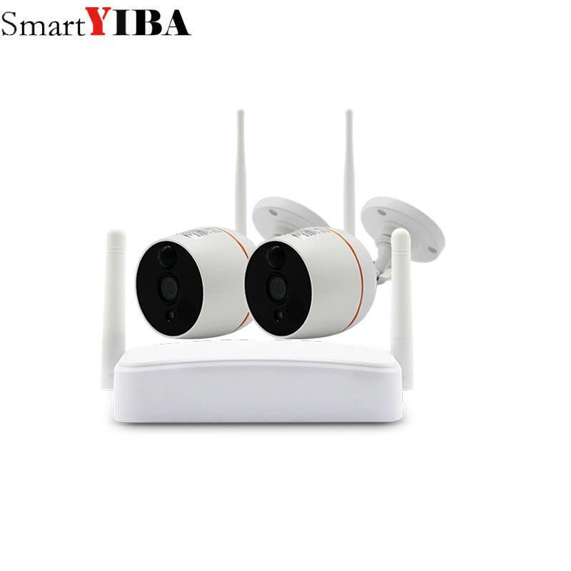 Senza fili del CCTV Sistema di Telecamere di Sicurezza HD 1080 P Macchina Fotografica del IP di Wifi Mini NVR Kit di Video Sorveglianza A Casa Senza Fili Audio EsternoSenza fili del CCTV Sistema di Telecamere di Sicurezza HD 1080 P Macchina Fotografica del IP di Wifi Mini NVR Kit di Video Sorveglianza A Casa Senza Fili Audio Esterno