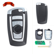 Keyecu 2017 Keyless Entry Car Remote Key Fob 4 Button 433MHz PCF7953/49 Chip for BMW F Series FEM / BDC CAS4 CAS4+