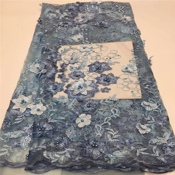 Cassiel Nice Sequin lace fabric high quality tulle beautiful squins embroidery lace fabric for dresses Lovely african lace
