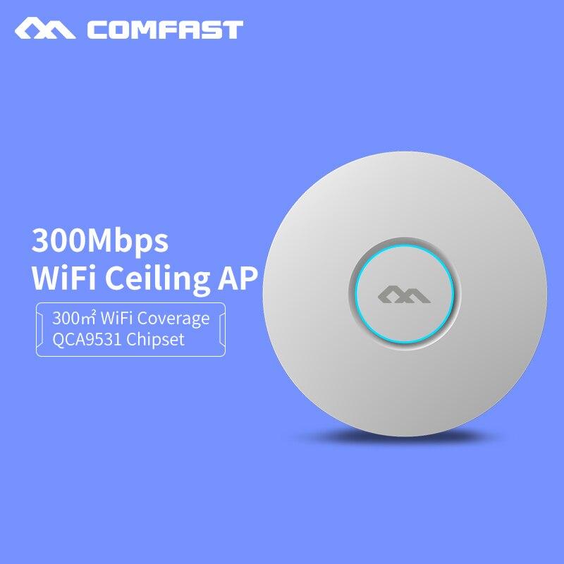 Wi-Fi Крытый потолочная точка доступа 300 м маршрутизатор Беспроводной AP с 48 В POE OpenWRT DDWRT 2*3 дБи антенна wi-fi Бриджер cf-e320n-v2 ...