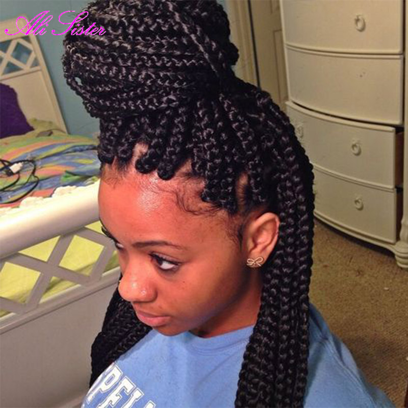 Crochet Box Braids Bun : Braiding Hair Senegalese Twist Hair Box Braid Extensions Crochet Braid ...