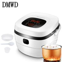 DMWD Electric Rice Cooker Timing Reservation 5L Food Heating Pressure Cooking Steamer Soup Cake Yogurt Maker Stewing Machine EU