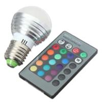 5X E27 3 W RGB LED 16 שינוי צבע הנורה מנורת אור + IR שלט רחוק