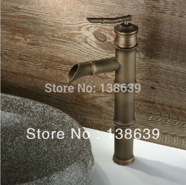 Free shipping Hot sale Bamboo style antique basin faucet,brass ...
