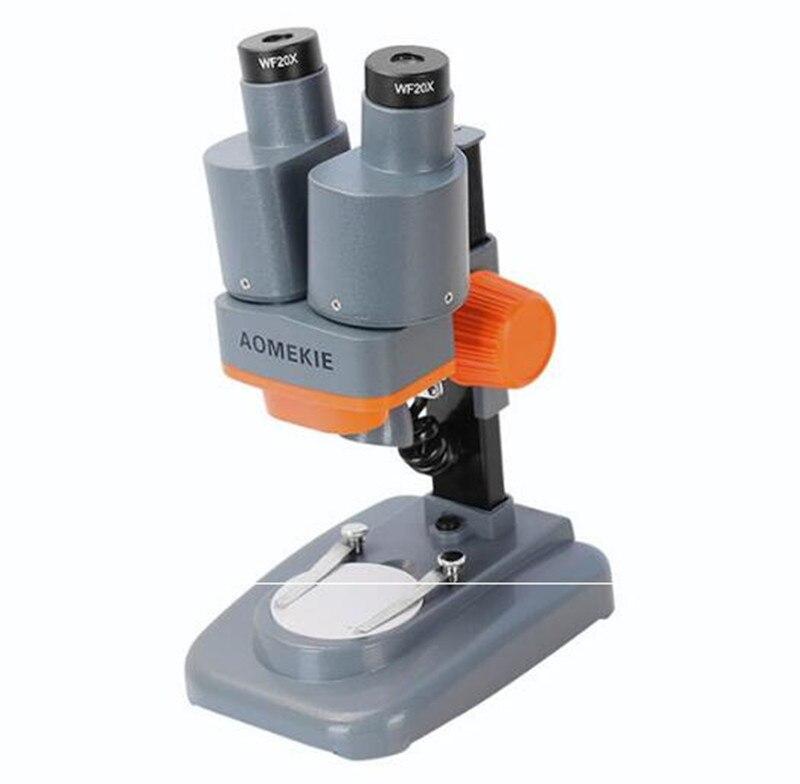 20X 40X Mini cadeau d'anniversaire jouets LED étudiant enfants poche stéréo Microscope Circuit imprimé téléphone Mobile réparation de téléphone