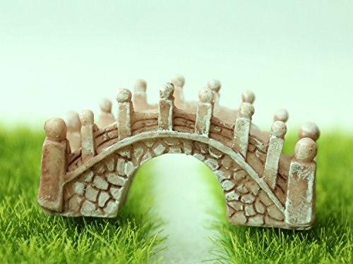 Mini Garden Miniatures Fairy Garden Ornament Decoration Resin Bonsai  Terrarium Figurines Micro Landscape Stone Bridge Decor