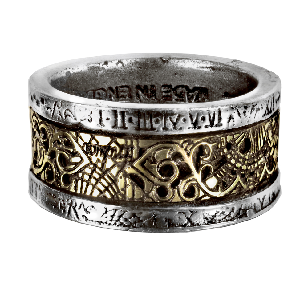 Hommes femmes Punk Style gothique bague en argent fait à la main rétro Vintage Viking anneau en acier inoxydable bijoux en métal mâle anneau