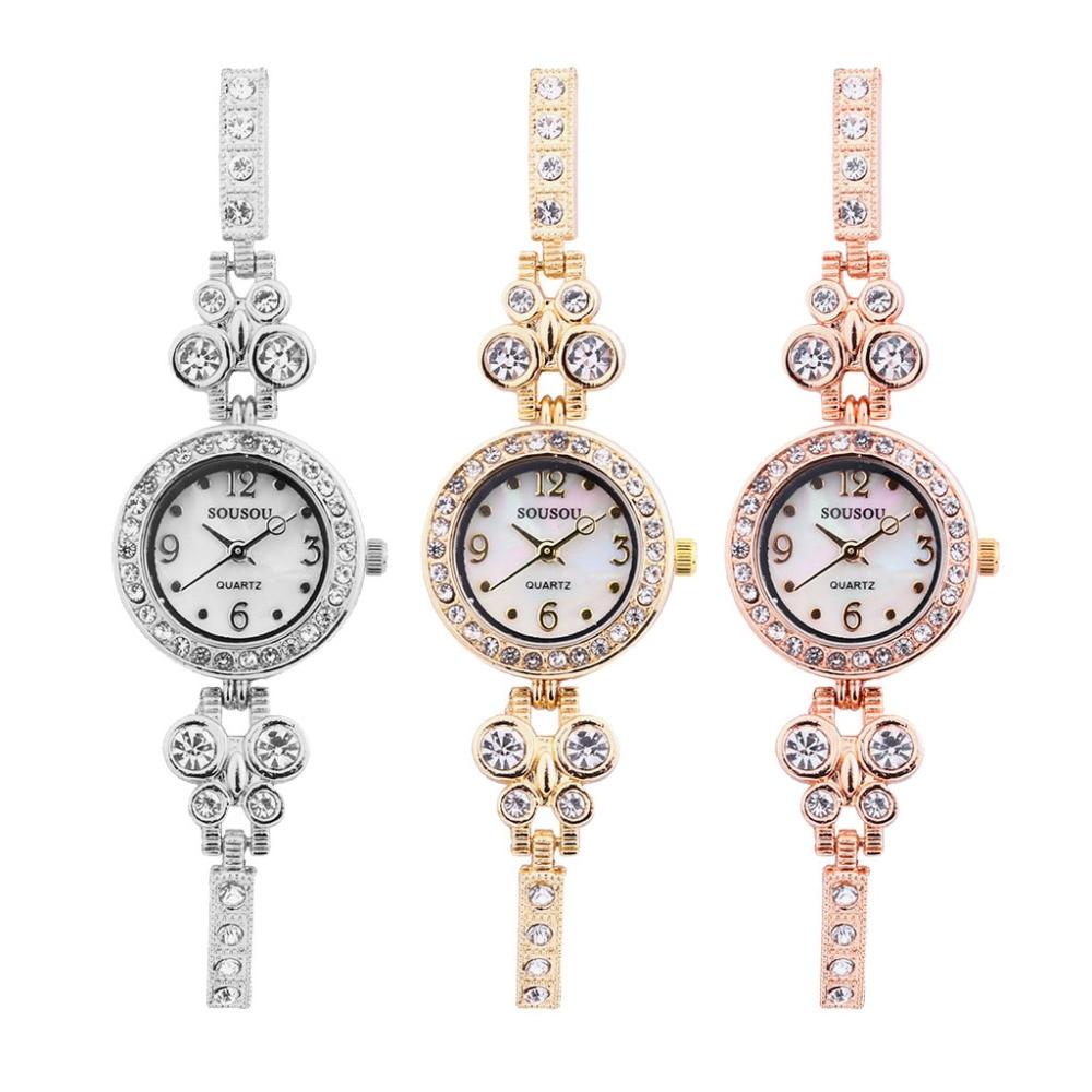 Bracelet Watches Women New Luxury Crystal Rhinestone Belt Small Wrist Watches For Girls Pendants Gift Orologio Donna Saatleri #D