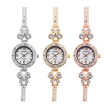 Bracelet Watches Women New Luxury Crystal Rhinestone Belt Small Wrist Watches