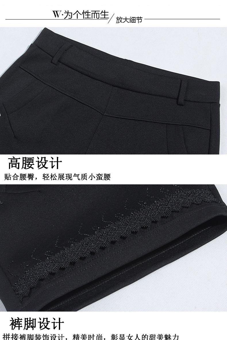 Women Summer Shorts Black Elastic Band Waist Short Pants Woman Casual Pantalones Cortos Mujer Slim Fit Shorts 4XL 3XL 2XL (1)