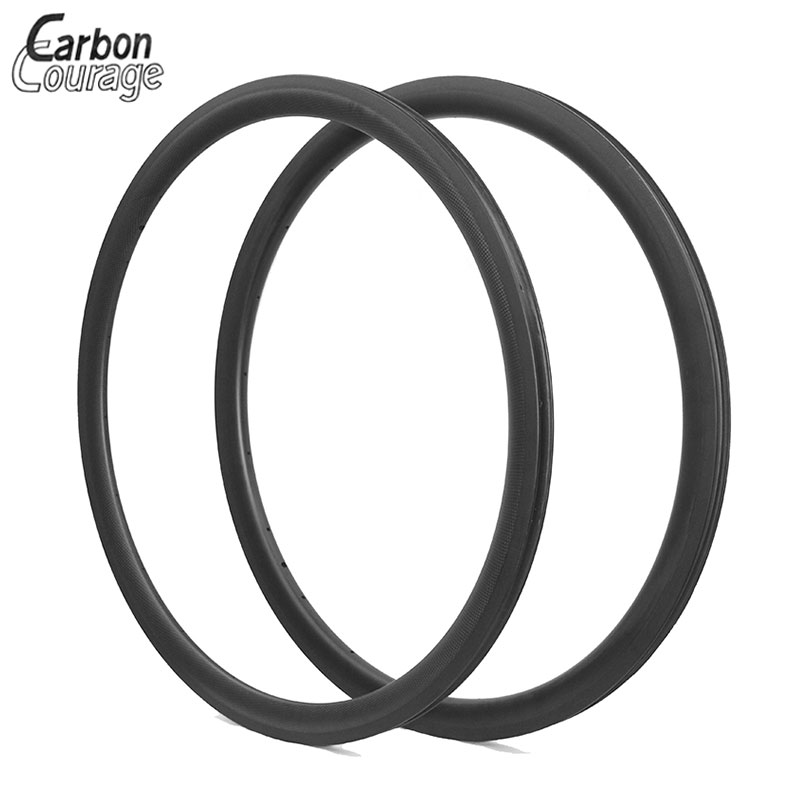 2Pcs New 700C 38mm Carbon Clincher Rims Road Bike Matt Full Carbon Bicycle Wheels Clincher Rim