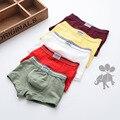3 pcs algodão grandes meninos boxers crianças sólidos underwear cuecas da criança adolescente boxers cuecas do bebê calcinha menino yl151