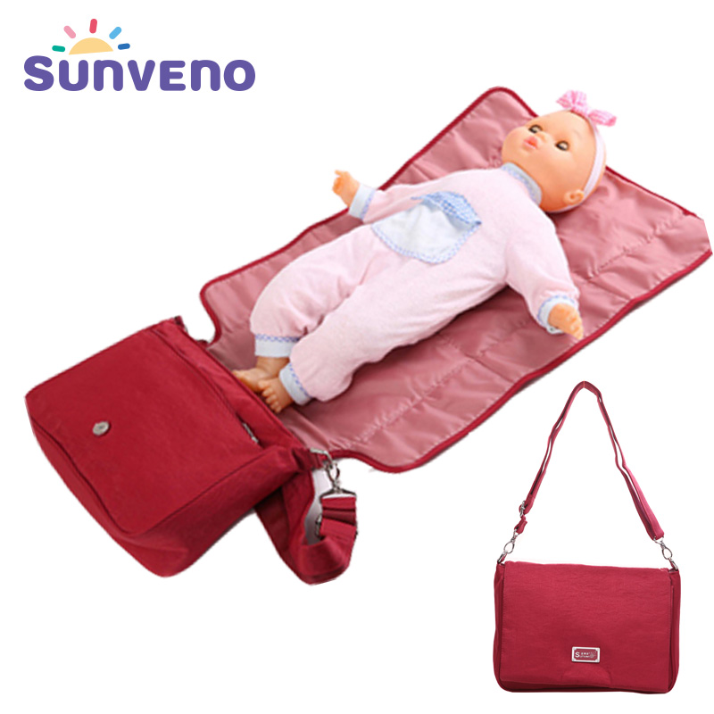 Mummy Bag Waterproof Multifunctional Bags Maternity Diaper Baby Nappy 4 Color Solid Nylon Messenger Direct Selling mummy page 4