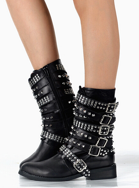 Ankle Boots Studs Promotion-Shop for Promotional Ankle Boots Studs ...
