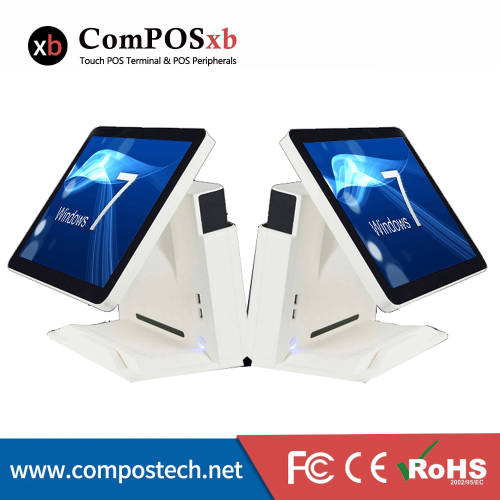 "Free Shipping Stock POS System 15"" 5 wire Resistive Touch Screen All In One Machine For Restaurant-in LCD Monitors from Computer & Office    2"
