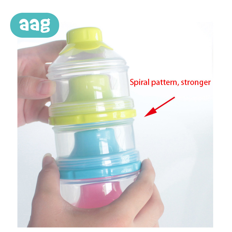 AAG Portable Baby Formula Milk Powder Storage Box Food Storage Snack Feeding Container 3 Layers Candy Snacks Supplies Boxes 10 in Baby Food Storage from Mother Kids