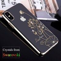 KINGXBAR For IPhone X 10 Case Swarovski Element Crystals Diamond Rhinestone Luxury Hard Case For IPhone