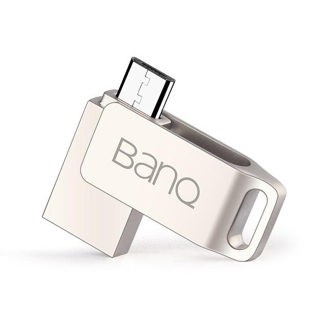 BanQ T80 OTG USB 3.0 100% 64GB Smart Phone Tablet PC USB Flash Drives OTG External Storage Micro 64G Pen Drive Memory Stick