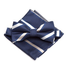 Men bowtie handkerchief Set Fashion Neck ties for mens gravata Wedding dress Party Jacquard Paisley Adjustable Adults Bow Tie