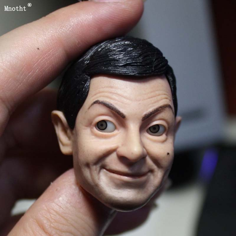Mnotht 1/6 Male Classic head sculpt Mr Bean Head Model Movable Eye Expressive Toys for 12'' soldier action figure collection ma