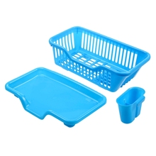 Haushalt Reinigung Halter PP Korb Große Küche Spüle Abtropfgestell Sieb Tray Veranstalter