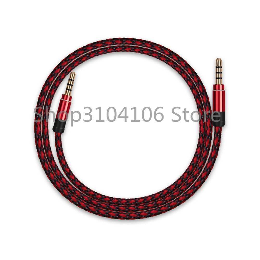 3.5mm jack przewód aux dla iPhone 6 Samsung mp3 3.5mm samochodowy sprzęt audio kabel drutu kolorowe nylonowe słuchawki bije głośnik aux przewód 1.5m