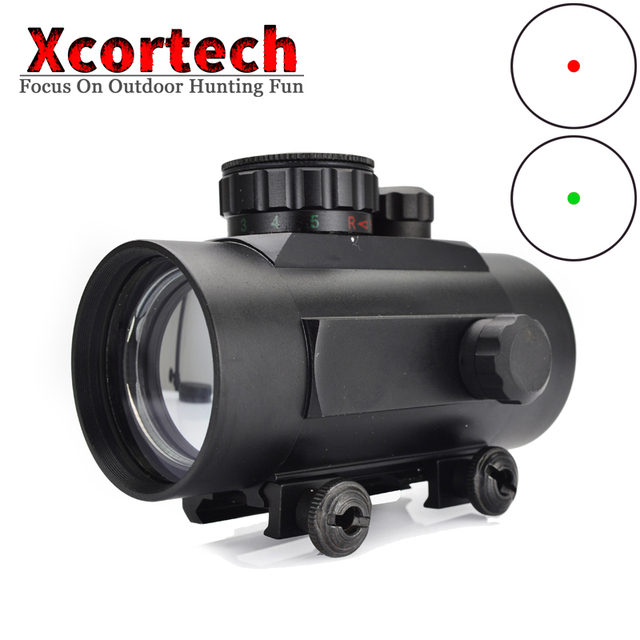 Hunting Tactical Riflescopes 1x40 Red Green Dot Scope Holographic Optical Sight Scopes Collimator Sight Fit 20mm Rail