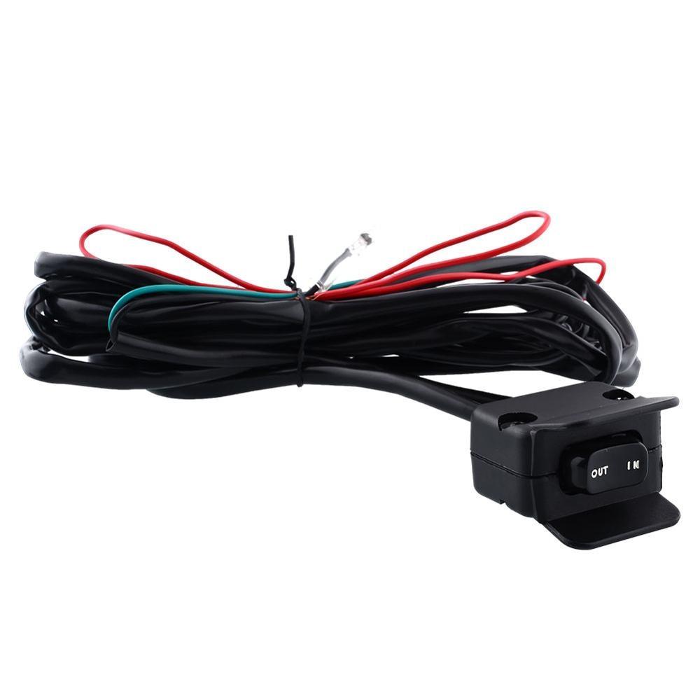 Motorcycle Atv Utv Winch Rocker Switch Handlebar Control Line Warn Wiring 8