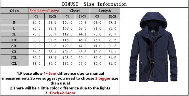 DIMUSI Autumn Men's Thin Jacket Male Casual Overcoat Army Tactics Windbreaker Jacket Mens Waterproof Breathable Hooded 6XL,TA205 Others Men's Fashion