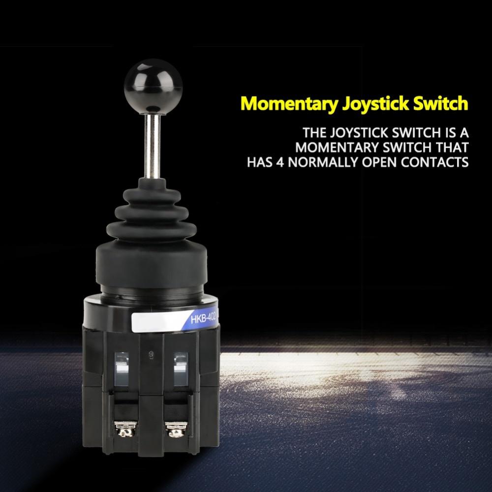 1pc CS-402 4NO 150V/15A 250V/10A 440V/4A 4-position Return Momentary Joy Stick Joystick Switch